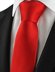 Галстук(Красный,Полиэстер)Однотонный