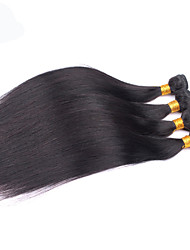 4Bundles 8-26inch Peruvian Hair Straight Hair Natural Color Virgin Human Hair Weaves