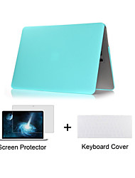 """Case for Macbook Air 11.6"""" MacBook Pro 13.3""""/15.4"""" Solid Color ABS Material Matte Plastic Full Body Case + TPU Keyboard Cover + Screen Protector"""