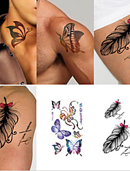 Newly Design Fashion Beautiful Butterfly Tattoo Stickers Temporary Waterproof Body Beauty(10PCS)