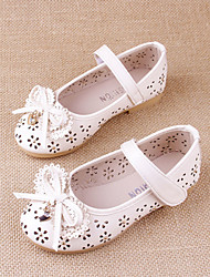 Girl's Summer Gladiator / Round Toe Leatherette Outdoor / Casual Flat Heel Crystal / Bowknot / Magic Tape Blue / Pink / White