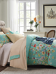 Floral Polyester 4 Piece Duvet Cover Sets