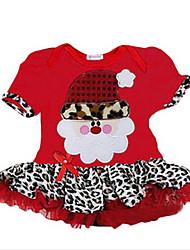 Girl's Black / Red Dress,Cartoon Cotton Summer / Spring