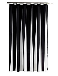 Fashion Black and White Stripe Water Proof Antibacterial Shower Curtains 72x72inch(180x180cm)