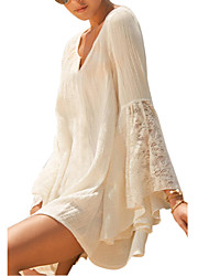 Women's Western Style V Neck Loose Cover-Ups , Cotton / Lace