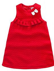 Girl's Blue / Red Dress Cotton Summer