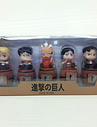 Attack on Titan Anime Action Figure 16CM Model Toy Doll Toy (5 Pcs)