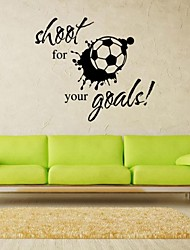 Hot Shoot for Your Goals Football Soccer Removable Decal Wall Sticker Home Deco