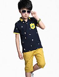 Jungen T-Shirt / Hose - Baumwolle Einfarbig Sommer