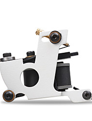 New 10 Wrap Coils Iron White Color Tattoo Handmade Professional Tattoo Machine Shader Liner For Sale