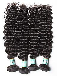 Tissages de cheveux humains Cheveux Péruviens Ondulation profonde 18 Mois 4 Pièces tissages de cheveux