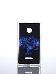 Для Кейс для Nokia IMD Кейс для Задняя крышка Кейс для дерево Мягкий TPU Nokia Nokia Lumia 640 / Nokia Lumia 535 / Nokia Lumia 435