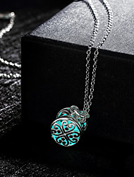New Magical Glow in the Dark Luminous Mini Cylinder Pendant Necklace