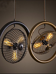 Retro Industrial Wind lamp fan pendant lamp American style bar