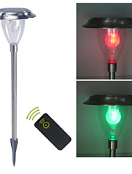 Remote control Solar Light Sensor White & Color Changing Garden Spike Mounted Light