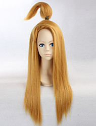 Naruto Deidara 65cm Long Straight Yellow Golden Color Men's Anime Cosplay Full Wig