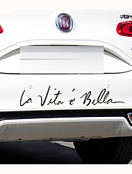 """30 * 6cm autocollants en français """"la vie est si belle"""" voiture de la personnalité autocollants (1pcs)"""
