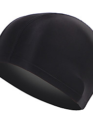 spandex confortable mens adulte noir bonnet de bain