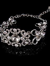 Bracelet Chaîne Alliage Strass Femme
