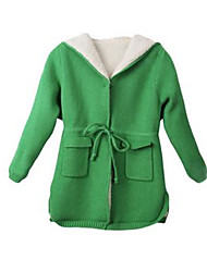 Girl's Green / Red Jacket & Coat Cotton Winter