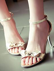 Women's Shoes Heel Heels / Peep Toe Sandals / Heels Outdoor / Dress / Casual Black / Silver / Gold