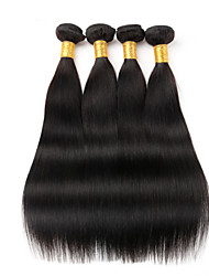 "4Pcs Lot 8""-30"" Brazilian Virgin Hair Straight Natural Black Human Hair Weave Bundles Shed & Tangle Free Hair Bundles"