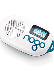 Nogo Q12 Mini Portable FM Radio REC Recording Lyrics Synchronization Audio Card More Speakers