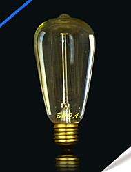 ST64 13 AK 25W Incandescent Light Bulbs Silk Antique Edison Light Bulb(Assorted Colors)