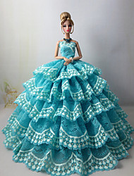 Wedding Dresses For Barbie Doll Sky Blue Dresses
