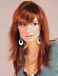Long Length Straight Hair European Light Brown Hair Wig