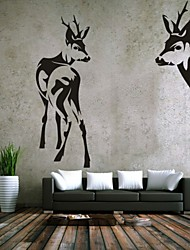 Tiere / Romantik / Mode / Abstrakt / Fantasie Wand-Sticker Flugzeug-Wand Sticker,PVC M:42*65cm+39*109cm / L:54*80cm+50*143cm