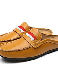 Черный / Синий / Коричневый / Белый-Мужская обувь-Для прогулок / Для офиса / На каждый день-Кожа-Лоферы