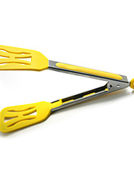 Stianless Steel Silicone food tongs 3color