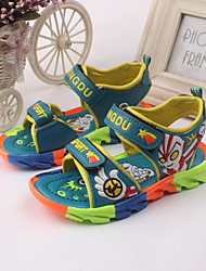 Boys' Shoes Outdoor / Athletic / Casual Leather Sandals Blue / Green