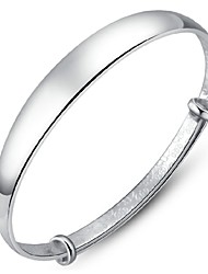 Women's Bracelet Sterling Silver Plated Sample Bangle Bracelet Wedding Bride