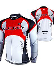 NUCKILY® Cycling Jersey Men's Long Sleeve Bike Waterproof / Thermal / Warm / Windproof / Rain-Proof / Reflective Strips Jersey / Tops