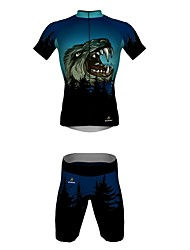 MYKING Men's Cycling Bike Short Sleeve Clothing Set Bicycle Wear Suit Jersey and Shorts WOLF