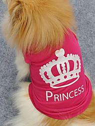 Noble Comfortable Crown Pattern Words Pet T-shirt