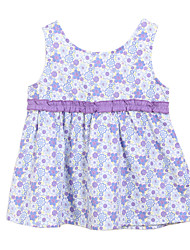 Girl's Floral Dress,Cotton Summer Orange / Purple