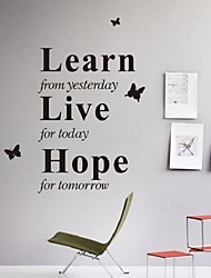 Learn From Yesterday Creative Wall Sticker Quotes Think Big Vinyl Wall Sticker Quote Decal Art House Decor