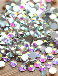 1000pcs/pack SS3 SS4 SS5 AB Nail Art Rhinestones Top Quality Flatback Non Hotfix DIY Nail DecorationS