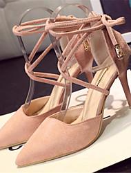 Women's Shoes Stiletto Heel Pointed Toe Heels Dress Black / Pink / Khaki