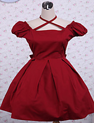 Cotton Red Bow Classic Lolita Dress Day Dresses OP