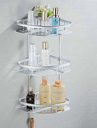 Bathroom Shelf Anodizing Wall Mounted 57*23*18cm Aluminum Contemporary