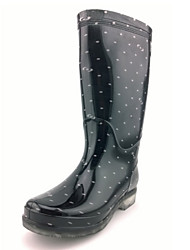 Women's Spring / Summer / Fall / Winter Rain Boots Silicone Outdoor Flat Heel Black