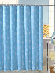 Four-color Printing Peach Thick Waterproof Mildew Shower Curtain