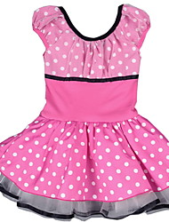 Baby Girl's Ballet Tutu Dress Kid Gymnastics Leotard Polka Dots Print / Ruffle Minnie Mouse Dance wear for Age 2~8 Y
