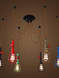 Max 60W Lampe suspendue ,  Vintage Peintures Fonctionnalité for Designers MétalSalle de séjour / Cuisine / Bureau/Bureau de maison /