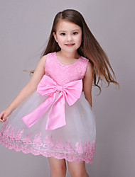 Girl's Pink Dress,Lace Polyester Summer