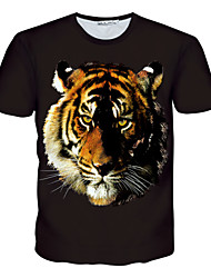Creative Personality 3 d stereo male and female 3 d short sleeve T-shirt with short sleeves